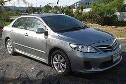 Toyota altis automatic available from Braun Phuket car hire
