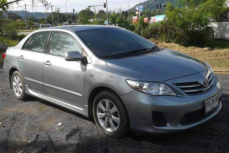 car hire phuketToyota altis large
