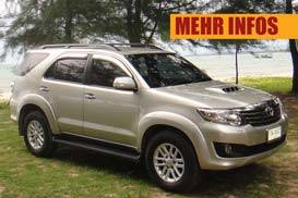 toyota fortuner phuket rent car
