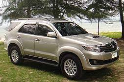 Toyota fortuna 4 wheel drive available from Braun Phuket car hire