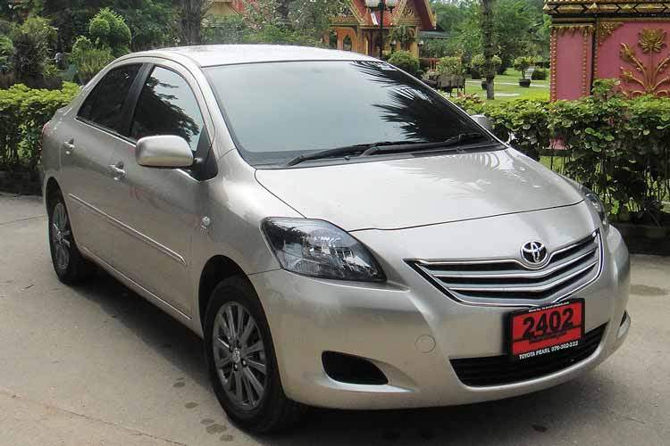 toyaota vios automatic available from Braun Phuket car hire