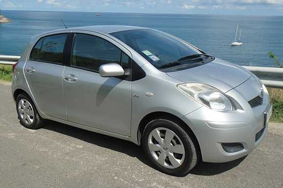 silver toyota yaris phuket car rental