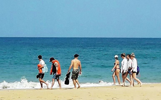 beautiful nai yang beach with blue sea and golden sands drive your rented car from braun to visit this wonderful place